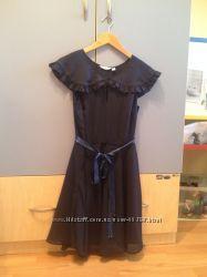 красивое темно-синее платье