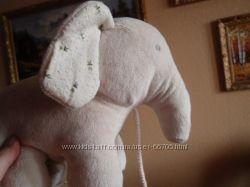 Слон мягкая игрушка можно прикренить к детской кроватке