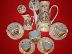 Чайный сервиз Мадонна. Oscar Schlegelmilch. 15 предметов.