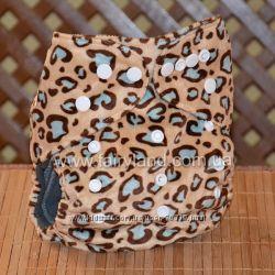 Многоразовые подгузники Велюр бамбуково-угольный без вкладышей