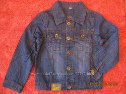 Классная джинсовая курточка   128 см.