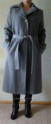 Пальто демисезонное серое бу 1 раз