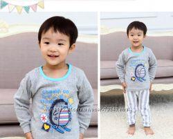Хлопковая пижама двухслойная  110 размер