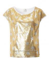 Шикарные футболки с золотыми паетками