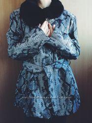 Стильная кожаная куртка PUNТO размер L