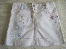 две джинсовые юбки бу на 4-5 лет в отличном состоянии