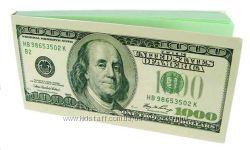 СП блокнот пачка баксов, евро подарок на любой праздник