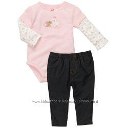 костюмчики с боди для малышек 1. 5 - 2 года