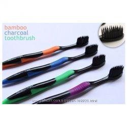 Зубная щетка с бамбуковым угольным напылением