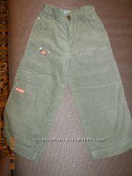 Вельветовые тонкие брюки, штаны  SELA 98р. на крупного мальчика.