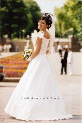Оригинальное свадебное, выпускное платье р 44-46. Франция. Одето один раз
