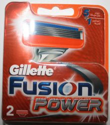 Gillette fusion power оригинал 2 штуки в упаковке Германия