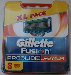 GILLETTE Fusion proglide Power оригинал Германия 8 штук в упаковке