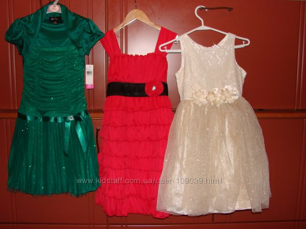 Шикарные платья для утренников и НГ размеры 5- 6, 7, 8, 10, 12,