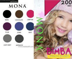 Детские колготки c микроплюшем MONA BIMBA. 116-122 и 128-134