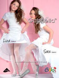Колготки нарядные белые Gabriella р. 1, 2, 3, 4