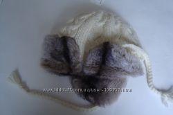 Новая эффектная теплая шапка- ушанка H&M