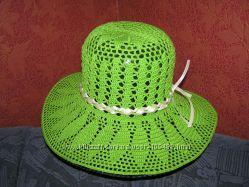 Вязанные шляпки для дам