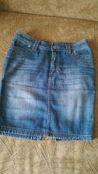 Джинсовая юбка-карандаш SASCH