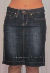 Джинсовая темно-синяя юбка D&G