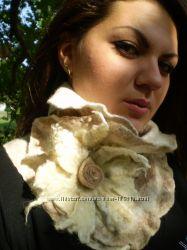 Авторский шарф  горжетка