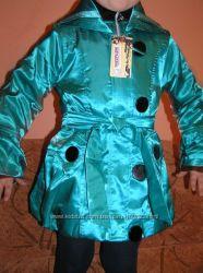 Гламурный плащик юным модницам 110см