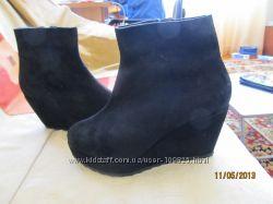Удобные ботиночки - натуральная замша, платформа