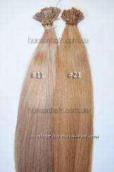 Волосы для наращивания на кератиновых капсулах