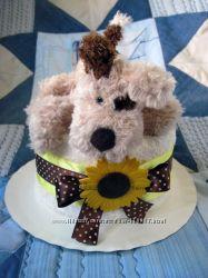 Тортик из полотнца Озорной щенок