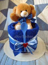 Тортик из полотенца Ням-Ням