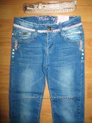 Джинсовые брюки для девочек Grace  116рр