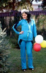 Красивые спорт. костюмы для беременных и кормящих 2-в-1