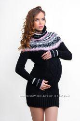 Теплые свитера-туники для беременных - в наличии со скидкой