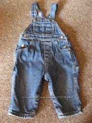 Полукомбинезон плотный джинс для малыша