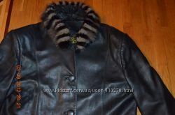 Стильный пиджак-кожа норка разм М-L