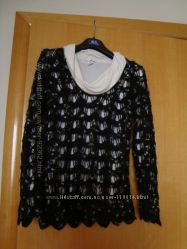 Теплый шерстяной джемпер ажурной вязки Penny Pull  - Италия