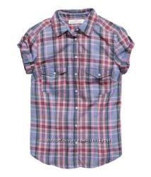 Новая клетчатая рубашка Из хлопка