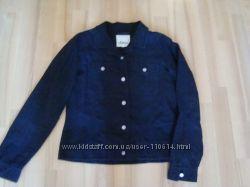 Курточка джинсового покроя из льна и хлопка