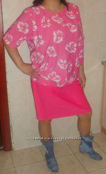 Модное платье большого размера.