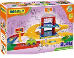 Супер цена дорога Wader Kid Cars 3D - Гараж 2 этажа 3, 4 м 53020 в наличии