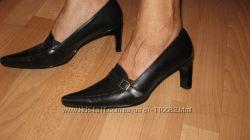 Туфли черные, кожа, удобнейшая колодка, Бразилия