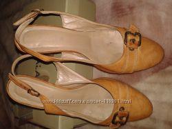 Открытые кожаные туфли KABALA р-р 40