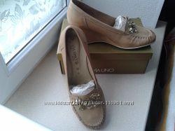 Мягкие кожаные туфли VIA UNO р-р 39