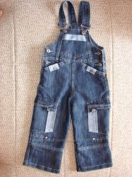 Полукомбинезон джинсовый на  86-92р.