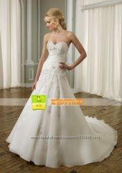Новое Шикарное свадебное платье для очаровательной невесты Размер 44-48