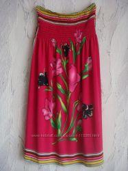 Веселенькое платье-сарафан без бретелей