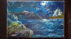 Картина маслом Море. 30 -40 см  Авторская работа