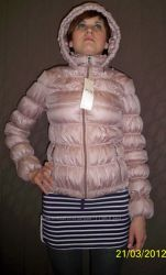 Стильна жіноча утеплена куртка на весну, S 44.