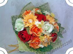 Ручные цветочные букеты с ароматом шоколада