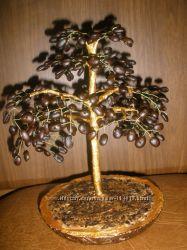 Кофейное деревце, деревья из бисера-отличный подарок к празднику